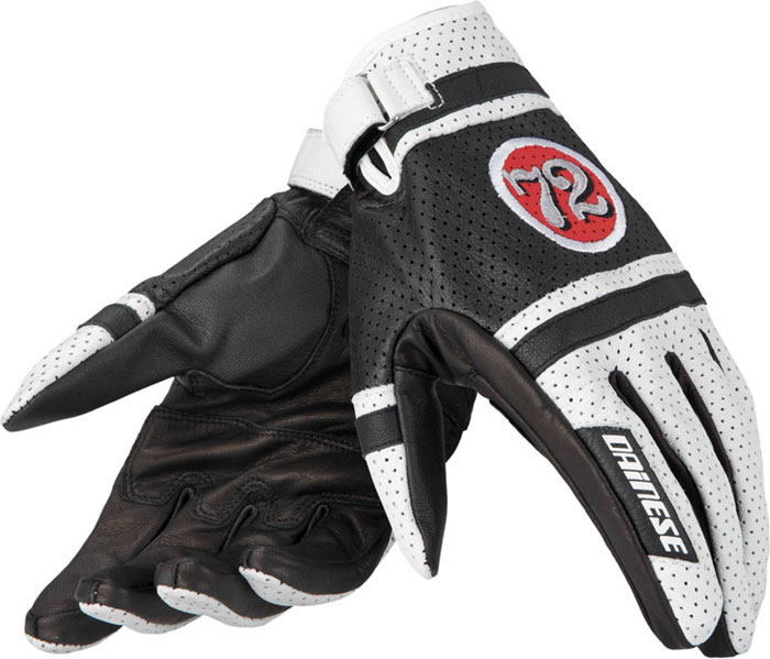 Motorcycle Gloves Dainese Hot Rodder White Red Black