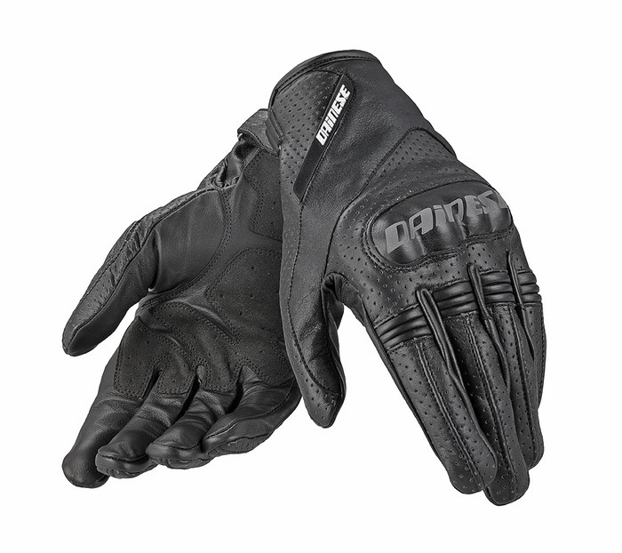 Dainese leather motorcycle glove Essential Black