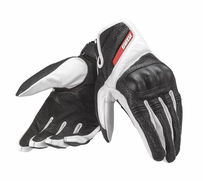 Guanto moto pelle Dainese Essential Nero Bianco