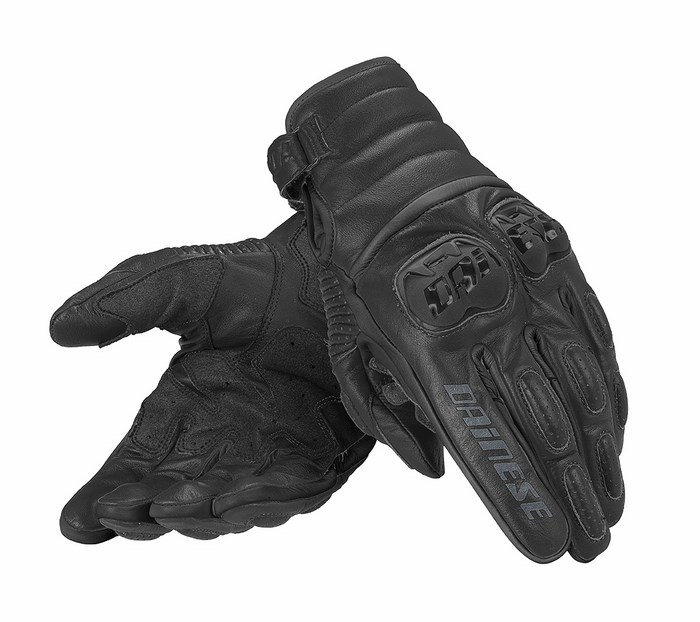 Motorcycle Gloves Dainese leather Frazer Black