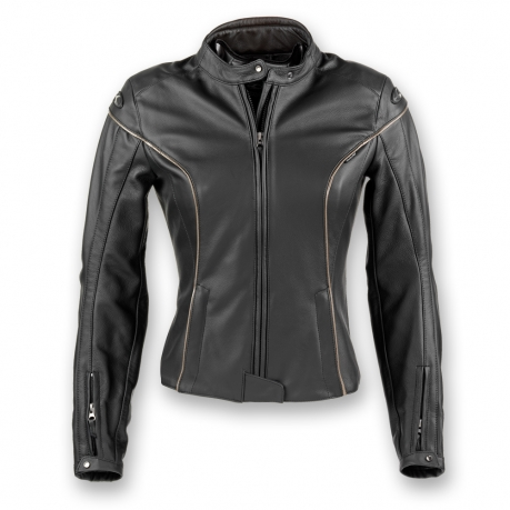 Women's leather motorcycle jacket Black Clover Venice