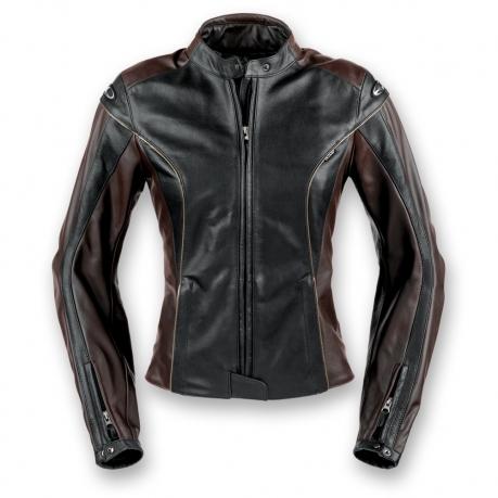 Women's leather motorcycle jacket Clover Venice Black Dark B