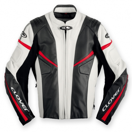 Leather motorcycle jacket Clover R-7