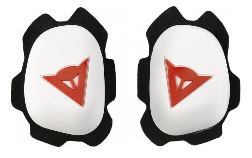 Saponette Dainese Knee Slider B60D11 bianco-rosse