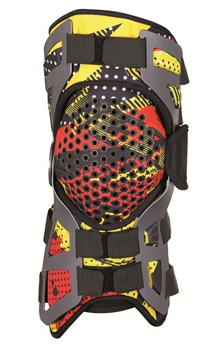 Dainese Tutore support for knee joint black-red-yellow