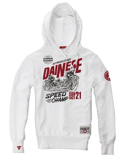 Felpa Dainese Speed Champ bianca