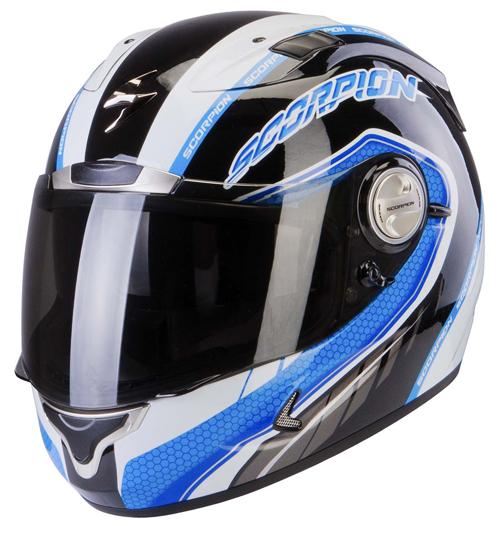 Scorpion Exo 1000 Air Pipeline full face helmet Black Blue
