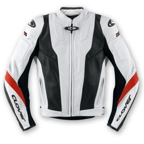 Clover Triforce Leather motorcycle jacket Level 2 Black White