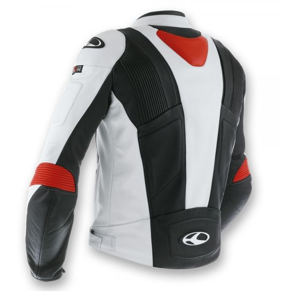 Clover Triforce Leather motorcycle jacket Level 2 Black White