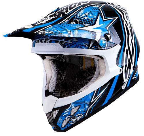 Scorpion VX 20 Air WinWin off road helmet Blue Black White