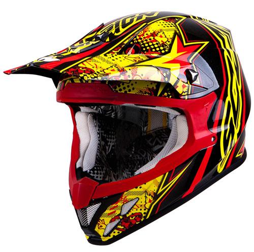 Scorpion VX 20 Air WinWin off road helmet Yellow Red Black