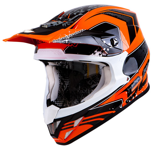 Casco cross Scorpion VX 20 Air Quartz Arancio Nero