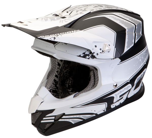 Cross helmet Scorpion VX 20 Air Quartz Black Matt White