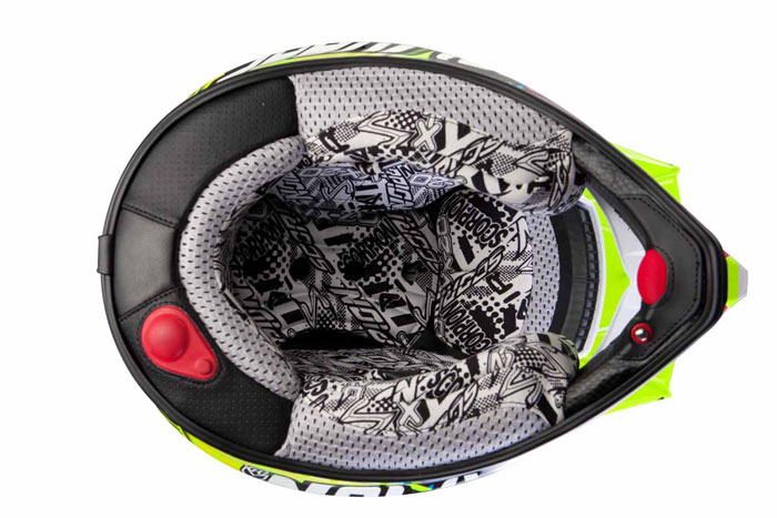 Casco cross Scorpion VX 20 Air Spot Nero Bianco