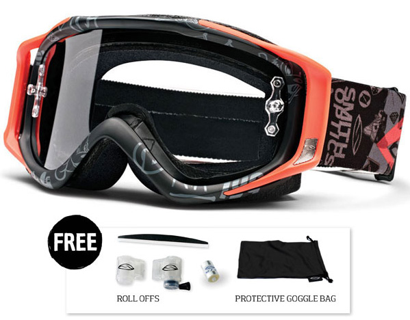 Smith Fuel V2 Sweat-X Black Pastrana Signature goggle