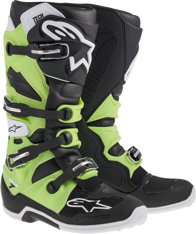 Stivali moto off-road Alpinestars Tech-7 2014 Nero verde