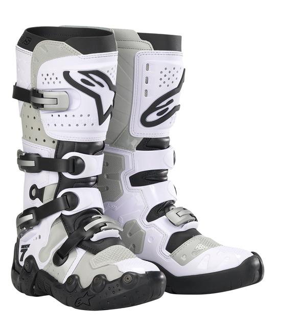 Alpinestars Tech 7 Supermoto boots - White-Gray vented