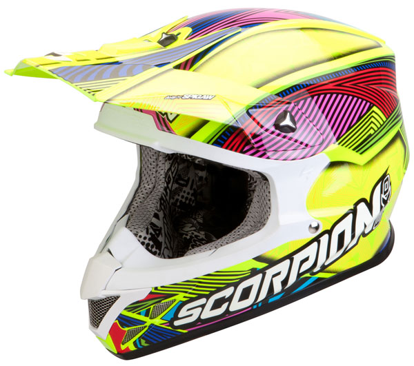 Casco cross Scorpion VX 20 Air Geo Giallo Neon Multicolor