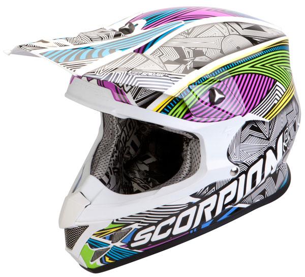 Casco cross Scorpion VX 20 Air Geo Bianco Nero Multicolor