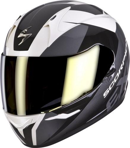 Scorpion Full Face Helmet Exo 410 Slicer White Black Grey