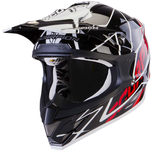 Scorpion VX 15 Air Sprint off road helmet Black White Red