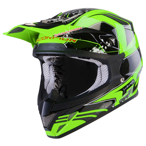 Scorpion VX 20 Air Quartz off road helmet Neon Green