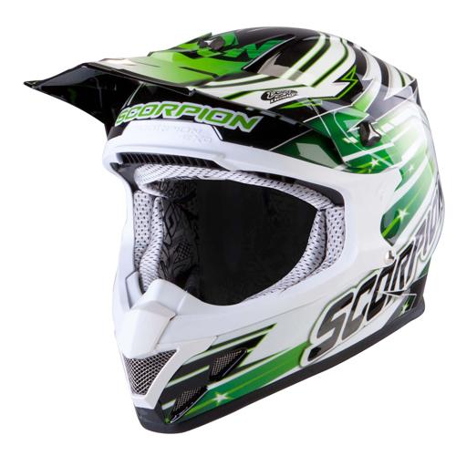 Scorpion VX 20 Air StarTrooper off road helmet Black White Green