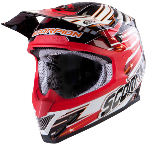 Scorpion VX 20 Air StarTrooper off road helmet Black White Red