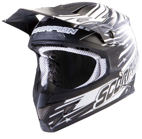 Scorpion VX 20 Air StarTrooper off road helmet Matt Black