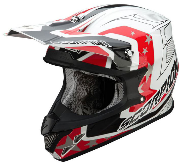 Cross helmet Scorpion VX 20 Space White Red Black
