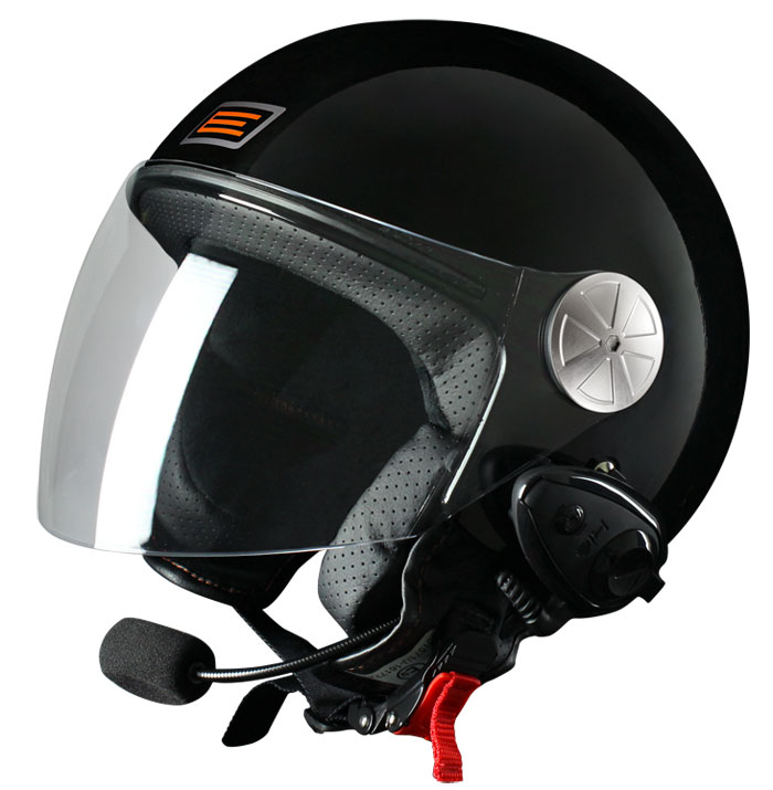 Source jet helmet with intercom Ready KIE Black