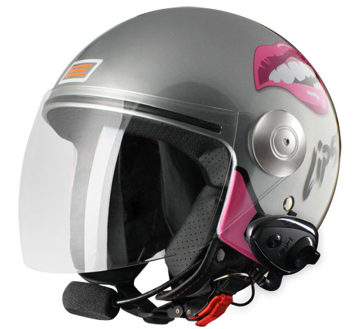Origine Pronto Lipstick  Jet helmet with intercom Kie Titanium