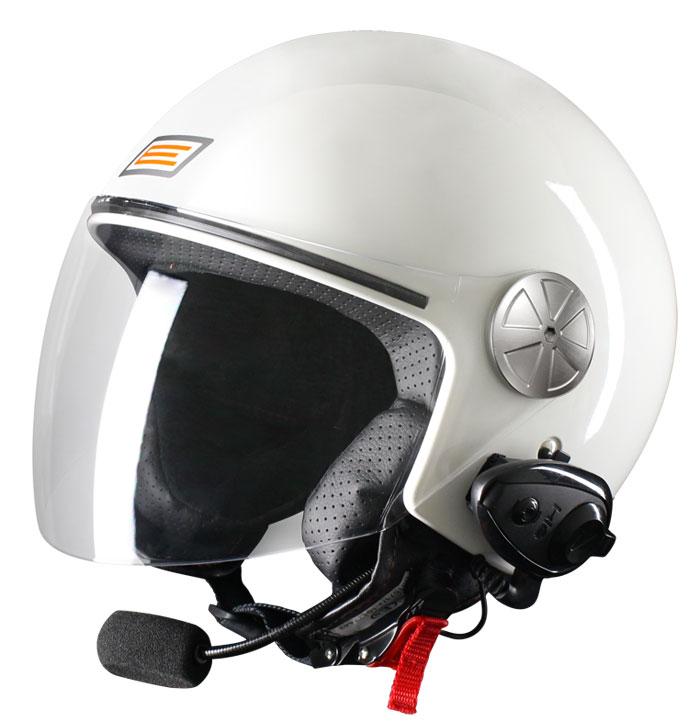 Source jet helmet with intercom Ready KIE White