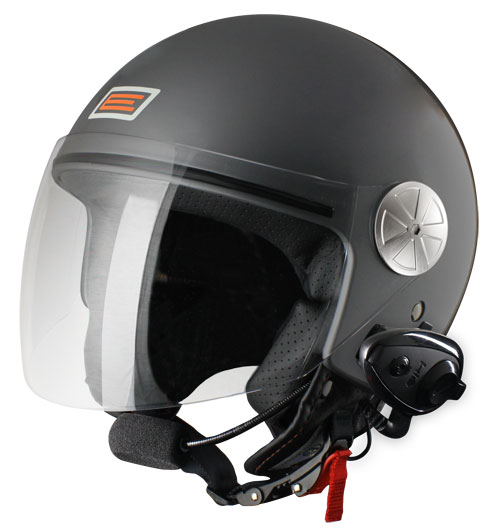 Source jet helmet with intercom Ready KIE Anthracite