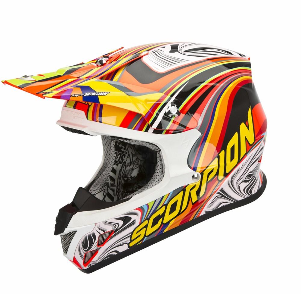 Scorpion VX 20 Air Sym cross helmet red multicolor