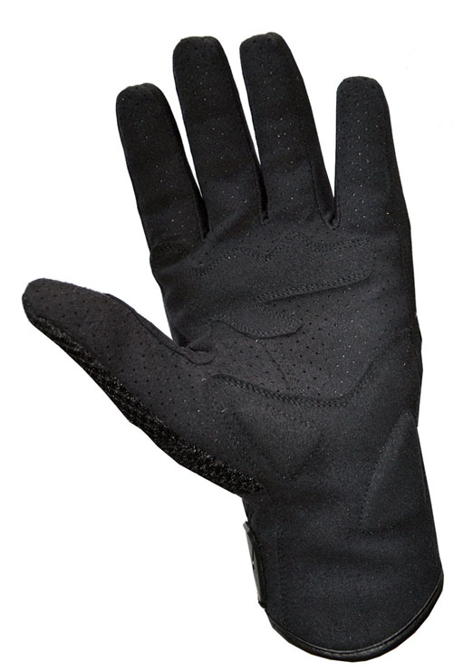 Summer motorcycle gloves leather black Jollisport Spock