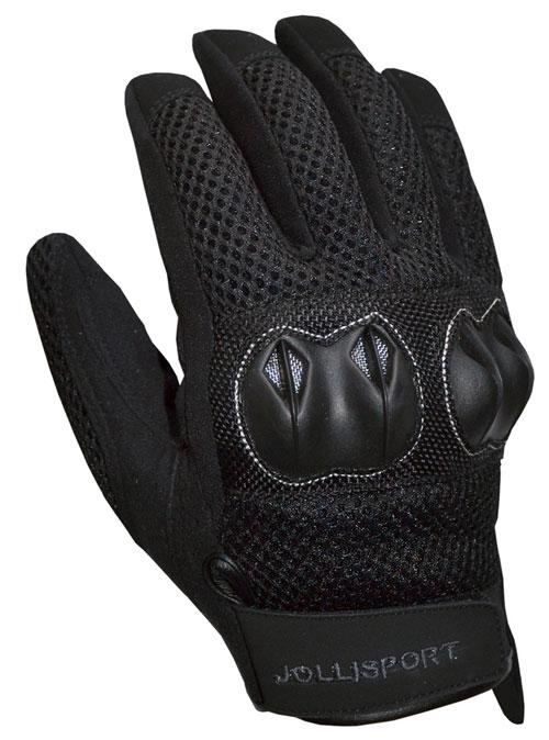 Summer Motorcycle Gloves Jollisport Shorty black