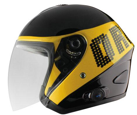 Origin Tornado jet helmet with intercom Disco Blink G2 Yellow