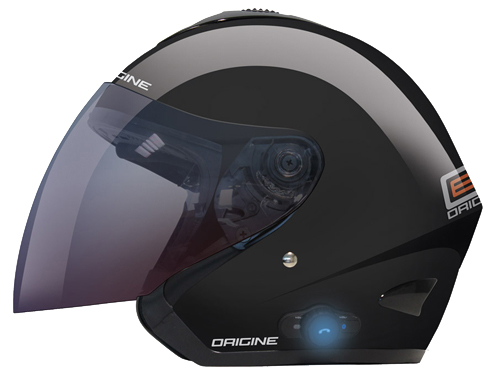 Origine TORNADO open face helmet with Bluetooth Black