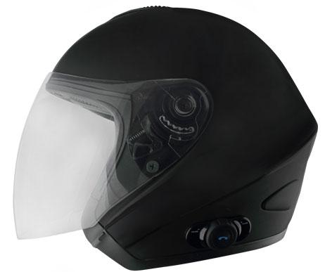 Origine Tornado jet helmet with intercom Blink G2 Matte Black