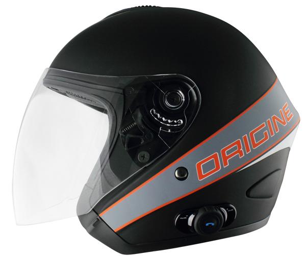 Origine Tornado Maestrale jet helmet intercom Blink G2 Matt Blac