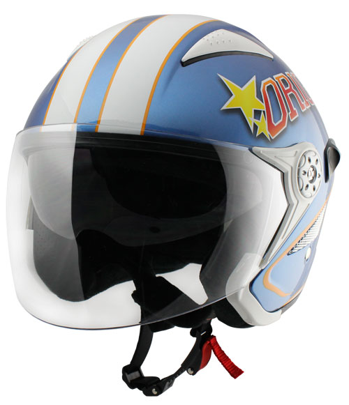 Casco jet Origine Falco College Blu