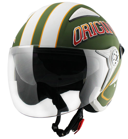 Casco jet Origine Falco College Verde
