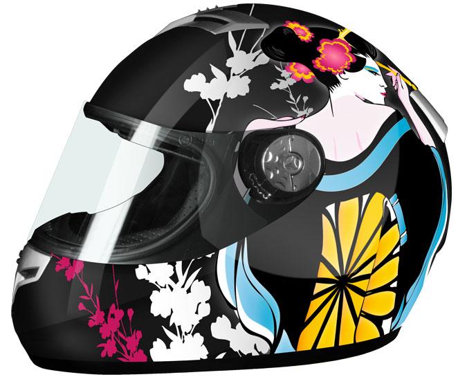 Full Face Helmet Black Geisha Goliath Origin