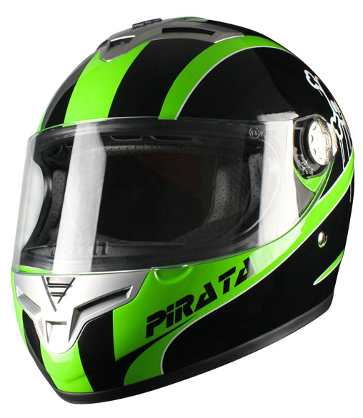 Casco integrale Origine Golia Pirata Verde
