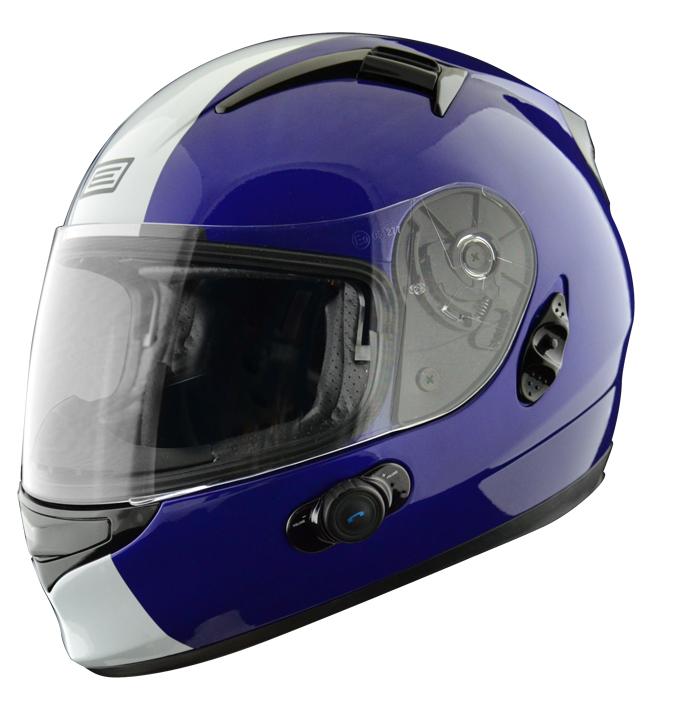 Full face helmet with intercom Origin Wind 2 Tony Blinc G2 Blue