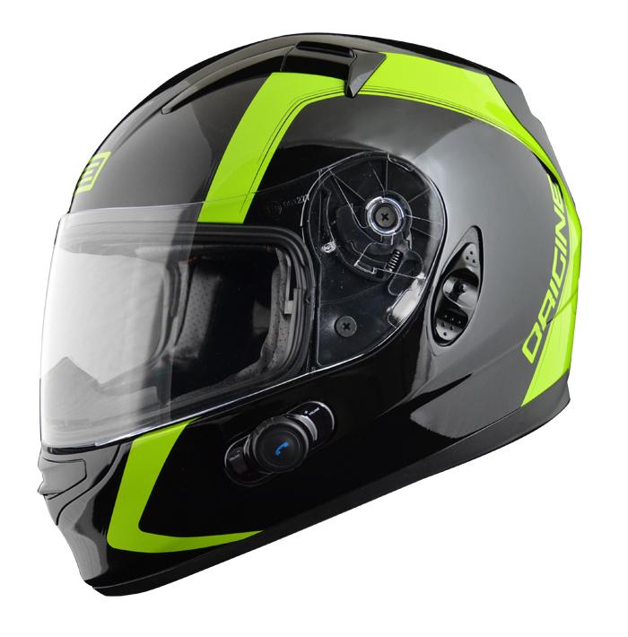 Full face helmet with intercom Origin Wind 2 spline Blinc G2 Ve