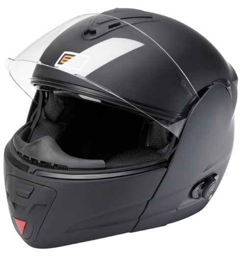 Origine Tecno flip-off helmet + interphone MetalBlack