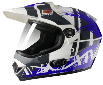Casco enduro Origine Gladiatore Dakar con interfono Blinc G2 Blu