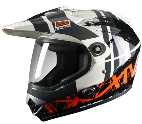 Casco enduro Origine Gladiatore Dakar con interfono Blinc G2 Ner